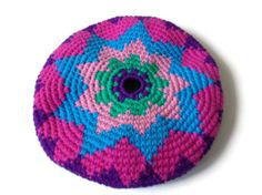 Frisbee Flying Disc Star Cotton Crochet by pigswife on Etsy, $15.00