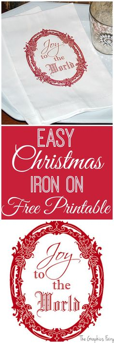 Christmas Iron on Printable - Instant Holiday Art - The Graphics Fairy