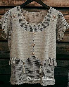 Fabulous Crochet a Little Black Crochet Dress Ideas. Georgeous Crochet a Little Black Crochet Dress Ideas. Gilet Crochet, Crochet Jacket, Freeform Crochet, Cotton Crochet, Crochet Cardigan, Knit Crochet, Crochet Stitches, Diy Crafts Knitting, Mode Crochet