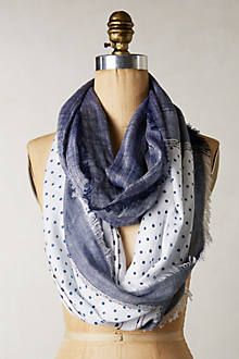 Obsessed with Blue this year! Notation Infinity Scarf