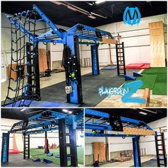 MoveStrong Nova XL Bridge customized for ninja warrior style training