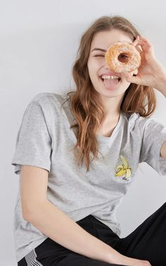 T-shirt Spring New, Casual T Shirts, T Shirts For Women, Woman, Fashion, Moda, Fashion Styles, Women, Fashion Illustrations