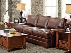 Prato Leather Sofa From Jennifer Convertibles.