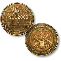 hunting license Hunting License, Hunting Stuff, Department Of The Navy, Whitetail Deer Hunting, Military Challenge Coins, Us Navy Seals, Antique Coins, Commemorative Coins, Bronze