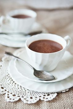 coconut almond hot chocolate www.inthelittleredhouse.blogspot.com by the little red house, via Flickr