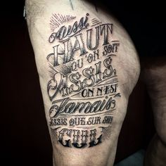 Gérard, 69ans, 1er tattoo. Parfait.