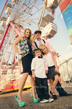 Family ~ vintage fair photoshoot  copyright by Jenna Gray Photography