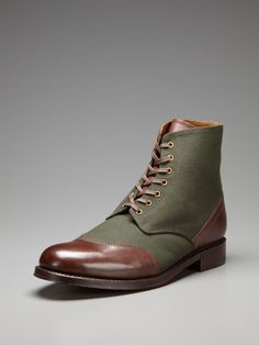 Grenson Glenn Cap Toe Derby Boots. i didnt know where to put them, just thought they were cool looking.