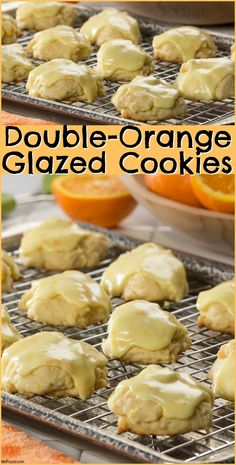 There's orange juice in the cookie AND in the glaze in our recipe for Double-Orange Glazed Cookies.