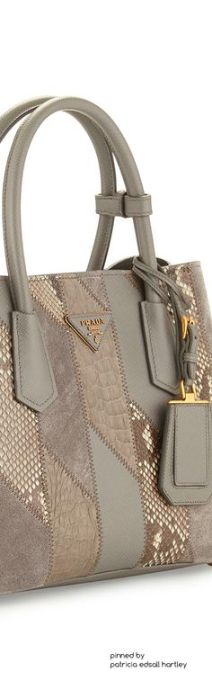 f4d70fac2f Prada Python  amp  Crocodile Patchwork Small Tote Bag Small Tote Bags