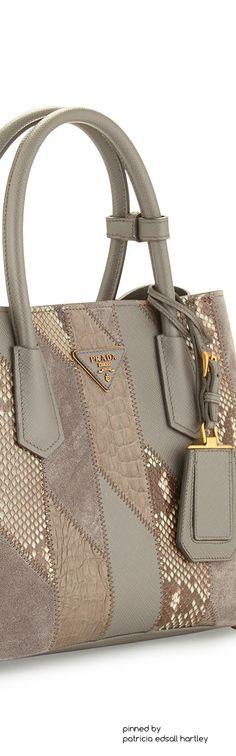 Prada Python & Crocodile Patchwork Small Tote Bag