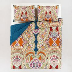 Wow...very similar colors compared to the one i wanted at Anthro...and waay less expensive WorldMarket.com: Venetian Quilt
