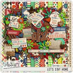 Let's Stay Home Kit by Bella Gypsy Designs! Brand new and 20% off through Feb 7th! Grab these along with the fabulous matching wood chips which are also 20% off!
