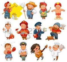 Find Professions Builder Painter Rocker Woodcutter Swimmer stock images in HD and millions of other royalty-free stock photos, illustrations and vectors in the Shutterstock collection. Painting For Kids, Drawing For Kids, Cat Vector, Vector Free, Cartoon Pics, Cartoon Characters, International Children's Day, Kids Background, Superhero Kids