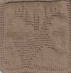Free Knitting Pattern - Dishcloths & Washcloths : Knitted Moose Cloth