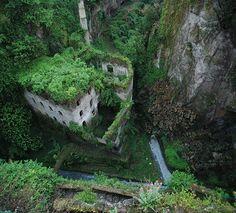 grassy canyon.
