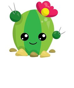 kaktus 'Cute Kawaii Cactus Emoji' Greeting Card by LarkDesigns Cactus Decor, Cactus Art, Cactus Flower, Green Cactus, Cactus Plants, Love Drawings, Kawaii Drawings, Easy Drawings, Emoji