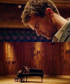 Theo James, lovin' the music.
