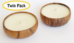 Hawaiian Candle  Bath Natural Non Toxic Non GMO Tuberose Scented Soy Candle with Acacia Wood Bowl Twin Pack -- See this great product.