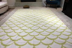 another great drop cloth diy -- love the pattern