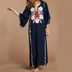 Bsubseach Long Sleeve Swimsuit Cover Up for Women V Neck Swimwear Beach Robe Kaftan Dress Cotton Beach Dresses, Vestido Maxi Floral, Bikini Push Up, Dress Vestidos, Maxi Dresses, Maxi Skirts, Summer Dresses, Floral Dresses, Sexy Women