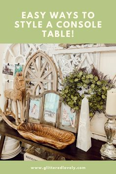 Here are some fun tips on how to use a console table in different ways. #consoletable #consoletabledecor