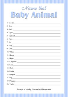 Free Printable Baby Shower Checklist  Baby Shower Guest List Who
