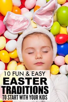 Looking for Easter ideas for kids to get your little ones excited about the Easter bunny? From Easter crafts, activities, and scavenger hunts, to Easter decorations, foods, and treats, we're sharing 10 of our favorite Easter traditions for kids that are sure to be a hit. Move over boring Easter baskets – we've got bigger and better ways to celebrate!