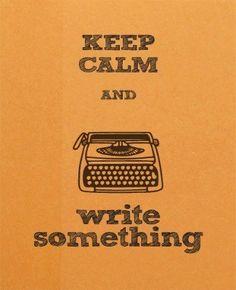 #Writing #KeepCalm