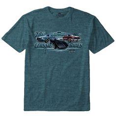 "Men's Newport Blue Chevrolet ""70s Classic Rides"" Tee, Dark Green"