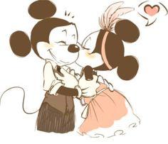 Mickey & Minnie <3 daddy and step mom