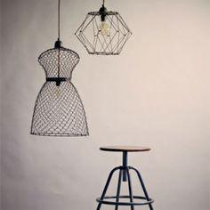Folding Wire Pendant Light