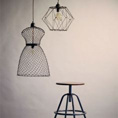 Folding Wire Pendant Light