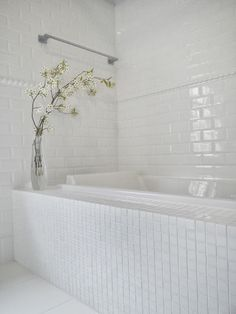 Small guest bath. with small spaces, I am partial to white on white design