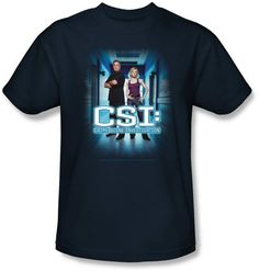 CSI T-shirt - Serious Business Adult Navy Tee CSI T-shirt - Crime Scene Investigation Adult Tees An awesome 100% preshrunk cotton T-shirt for any fan!