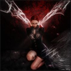 """""""Hybrid Black Widow""""This is in my estimation the darkest of all my seriesrsiphotography.deviantart.com/… because a lot of the pictures just look like photos which bri..."""