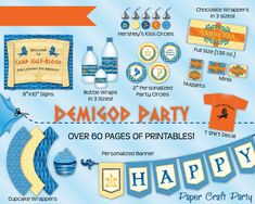 Demigod / Percy Jackson Inspired Birthday Party by Paper Craft Party