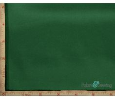 Emerald Green Shiny & Dull Stretch Charmeuse Satin Fabric 2 Way Stretch Polyester Spandex 5 Oz 57-58""