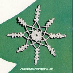Crochet Snowflake - Free Crochet Pattern - A crochet snowflake is a great addition to your Christmas decorations. You can hang it from your tree or attach it to gifts. Wherever it is, your crocheted snowflake ornament will add a sparkle to the room.