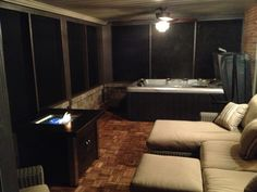 My new screened in patio / hot tub room
