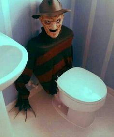 Not so scary but something like this for our bathroom trick or treat station! Toddler friendly of course!!