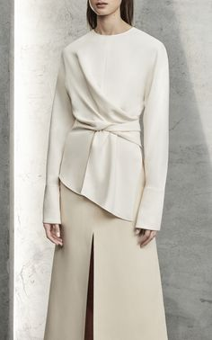 Mishi Ruched Front Top by YEON for Preorder on Moda Operandi