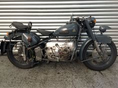 - Original bike - Swiss Army Model - 5 Speed Gearbox - Will require some recommissioning - Swiss copy of a BMW/Zundapp - Part of a private collection Motorcycle Manufacturers, Collector Cars, Swiss Army, Military Vehicles, Switzerland, Auction, Bicycle, Planes, Motorcycles