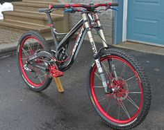 Devinci red spec and trickery - For more great pics, follow www.bikeengines.com