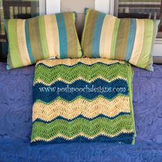 Great colors! Triple Ripple Crochet Afghan Pattern | AllFreeCrochet.com