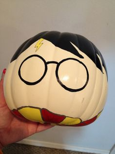 Harry Potter Painted Pumpkin - Halloween. $17.00, via Etsy.