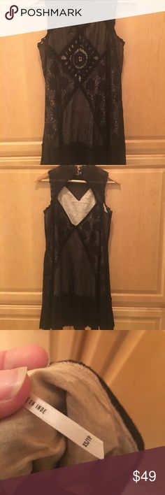 Free People black dress Black Lace dress Free People Free People Dresses Mini