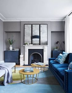 Gray living room ideas - how to get this shade right | Livingetc Home Design, Design Ideas, Design Trends, Colours That Go With Grey, Home Interior, Interior Design, Georgian Style Homes, Georgian Interiors, Living Room Grey