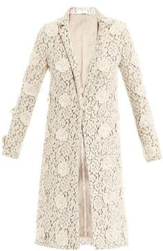 Floral Embroidered Lace Coat - Lyst