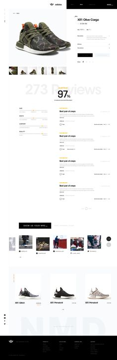 NMD_ Product page by Craig Gittins | dribbble